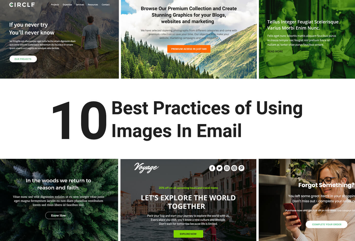 How to use images in email