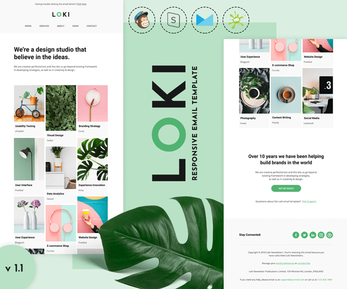 Loki - Multipurpose responsive email template preview