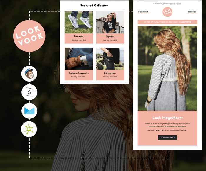 Lookvook - Responsive eCommerce email template preview