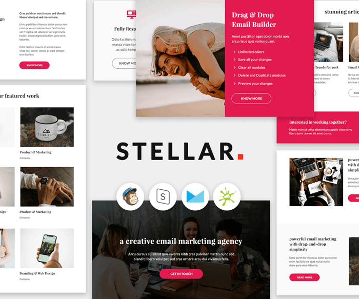 Stellar - Multipurpose agency email template preview