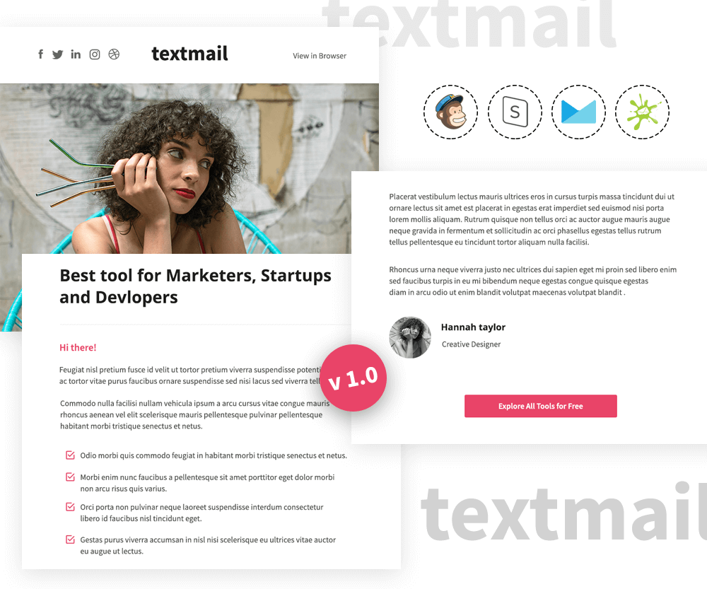 Textmail v1.0 - Responsive Informational Email Template
